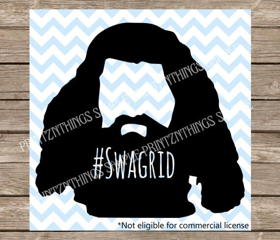 Harry Potter Svg Swagrid Hagrid Wizard Svg Files Png Cut Files
