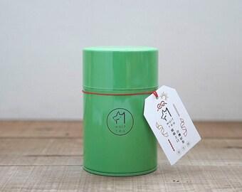 Green Wolf Tea Canister / Tea Tin / Caddy - Rhymic Oolong Tea