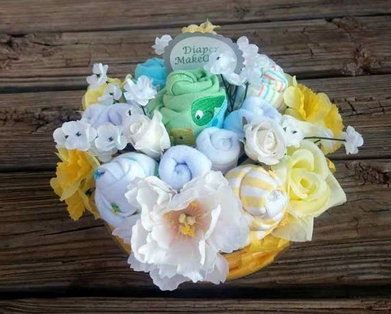 Baby shower gift baby floral bouquet baby shower like this item negle Gallery