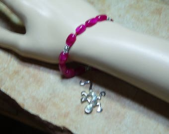 Real Earth Mined Red Ruby Gemstone, 925 Silver Bracelet