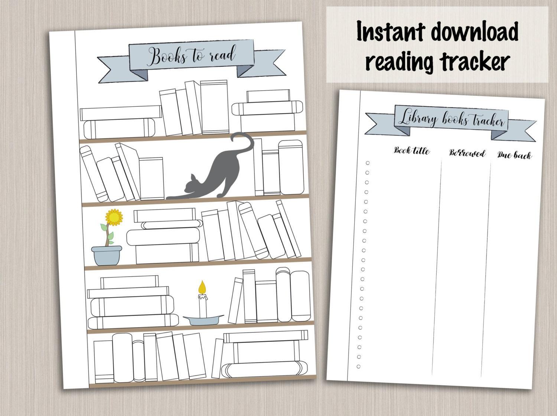bullet journal template reading planner template reading log. Black Bedroom Furniture Sets. Home Design Ideas