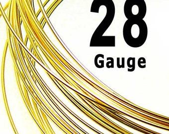 20 feet 28 Gauge Wire 14K Gold Filled Wire Half Hard HH