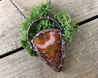 Moroccan Agate Necklace / Agate Necklace / Stone Necklace