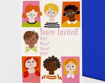 Brady - set of 8 party invitations