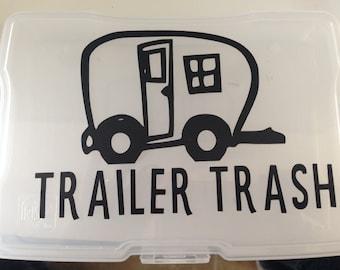 Trailer Trash Vinyl Decal