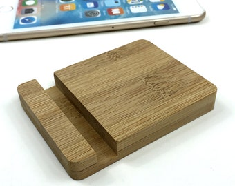 Bamboo iPhone Stand(uncoated),Wooden Phone Stand, iPhone Docking, Wood iPhone Stand,Phone Dish,Dock Station,Ergonomic Phone Stand