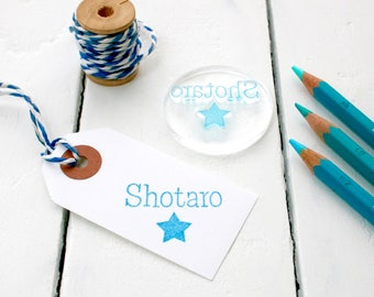 Personalised Child's Name Stamp - Name Stamp - Christmas Name Stamp - Childs Stamp - Christmas Present - Clear Stamp - Little Stamp Store