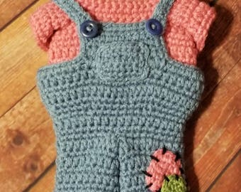 Pookie Bib Overalls and Shirt Crochet Pattern