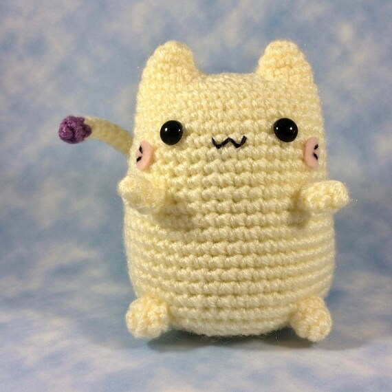 CROCHET PATTERN for Fumfort The Comfort Kitty Kawaii Cat