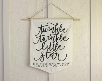 Twinkle Twinkle Little Star Baby Shower Nursery Star Galazy Newborn Celestial Space Theme Pennant Flag Baby Shower Door Hanger