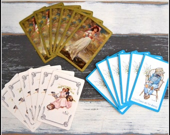 Vintage Playing Card Grouping - Vintage Cards - Lot of Vintage Cards - Playing Cards - Card Swap   (#C6)