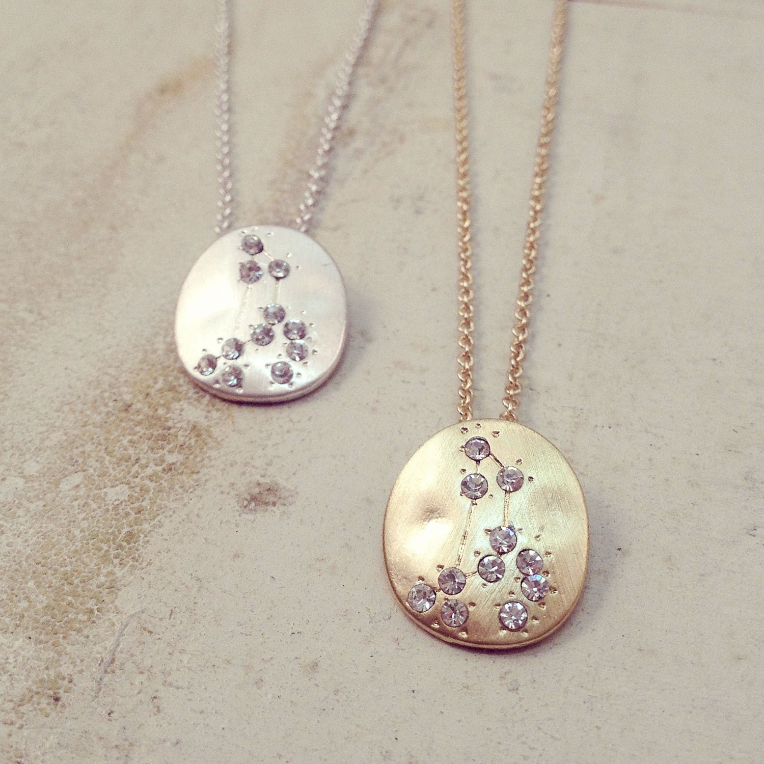 Hand made leo zodiac sign constellation necklace silver or zoom aloadofball Image collections
