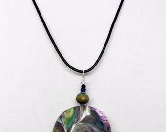 Karma Spiral Pendants - #268 Polymer Clay Pendant, Good Luck Charm, Good Karma, Handmade, One of kind, Unique Gift, Boho Jewelry