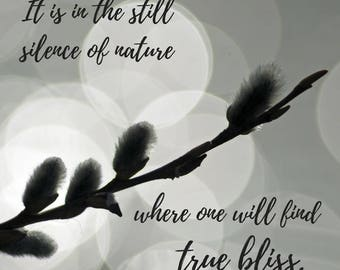 Quote and Art Digital Print| It is in the stillness of nature where we will find true bliss quote