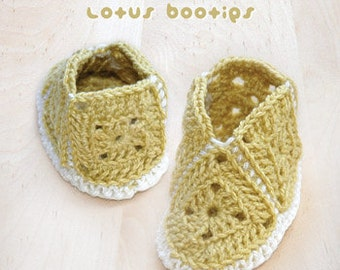 CROCHET PATTERN Lotus Booties PATTERN - Symbol Diagram (pdf)