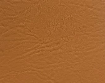 """Gold Vinyl Fabric Faux Leather Pleather Upholstery 54"""" Wide By the Yard"""