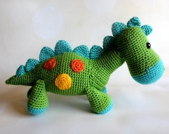 Dinosaur Stuffed Toy - Crochet Plush Animal - Dinosaur Amigurumi - Baby Plush Animal - Baby Shower Gift - Dinosaur Nursery Decor