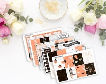 Cute Halloween Weekly Kit - Planner Stickers - Erin Condren Vertical Life Planner