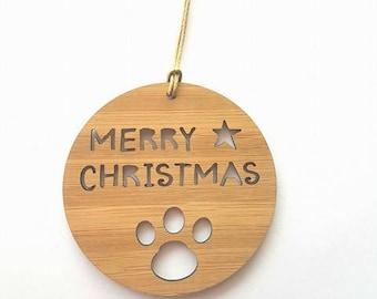 Pet-Dog-Cat-Wood Christmas Decoration-Paw-Ornament-christmas tree-gift-christmas gift-wooden-kris kringle