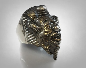 Original Ezi Zino | Playful Clown Sphinx Sterling Silver 925 Ring
