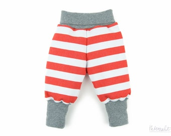 Baby girl clothes, organic baby pants, baby girl baggy pants, striped jersey pants girl, newborn baby girl pants, 100% organic cotton