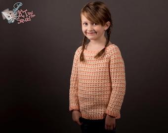 Crochet sweater pattern, girls crochet top pattern, Girls sweater, ok to sell, crochet top down, crochet sweater, girls top patter