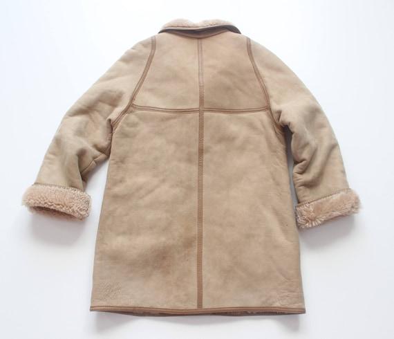 UK14 Coat UK12 Jacket 100 Hip Ladies Vintage Length PETITE Beige Size Real ALEKSANDER Sheepskin 7Ax7P8qw6