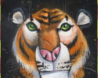 Circus Tiger (Fine Art Print not a real Circus Tiger)