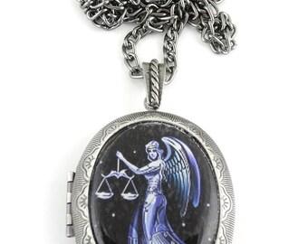 Libra Locket & Gift bag, Astrology Locket, Necklace, Libra Necklace, Libra Jewellery, Locket,  Jewelry, Gift, Star, Jewellery, Jewelry