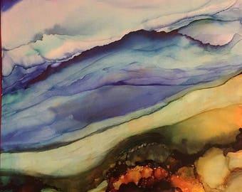 Art print, ocean painting, nature art, abstract art, beach art, wall art, beach decor