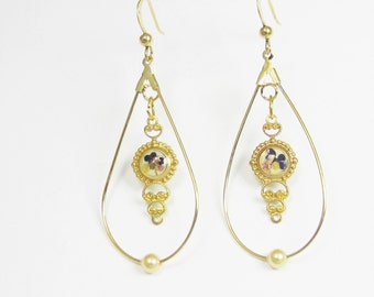 Tiny Victoriana, Real Flowers, Pressed Flower Earrings, Real Flower Jewelry (1693)