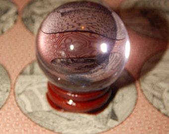 Genuine PINK SMELT QUARTZ Sphere - Pink Quartz Orb - 40mm Gemstone Sphere - Metaphysical Crystals - Reiki - Meditation Stone - Scrying