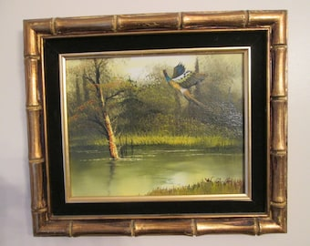 Flying Bird Oil Painting/Framed