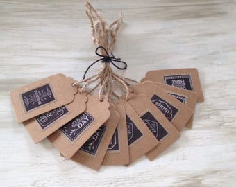 Set of 10 Kraft - Collection MESSAGES