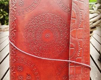 Mandala leather writing book, notebook