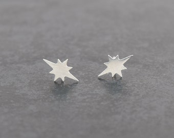Silver Studs Star, Earrings For Her gift idea, modern minimal studs, star earrings, sterling silver, gift for her, gift idea, minimal