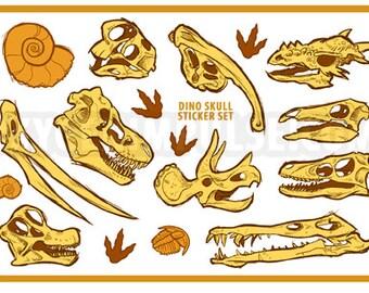 Dinosaur Skull Sticker Sheet