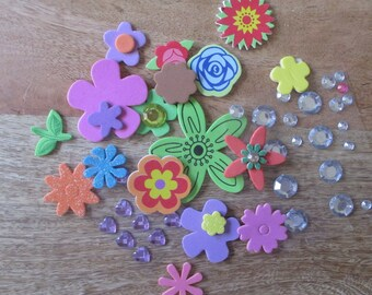 EXTRA Foam Flower Stickers and Gems