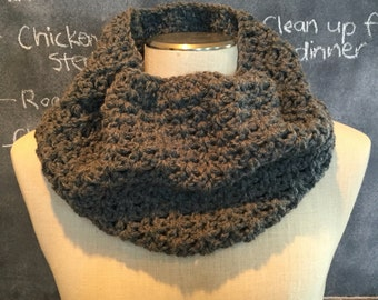 Kayla Cowl - crocheted infinity scarf, crocheted cowl