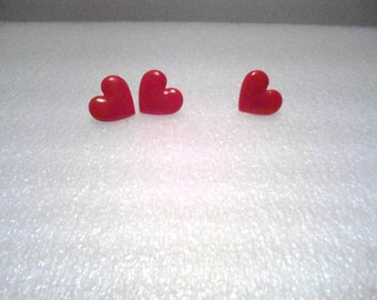 Heart Pins and Earrings Sets
