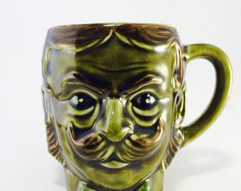 Green Mustache Mug