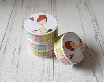 Bunting Washi Tape - Pastel Colours - Spring Time - Planner Accessory - Decorative Tape