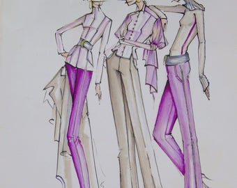 Illustration for Fashion Design 2007 Study Guide Text Book w DVD 12 Steps to the Fashion Figure by Gustavo Fernandez