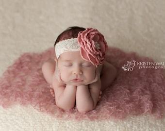 Pink Baby Headband, Pink Headbands, Newborn Headbands, Large Pink Headbands, Baby Headbands, Photography Prop