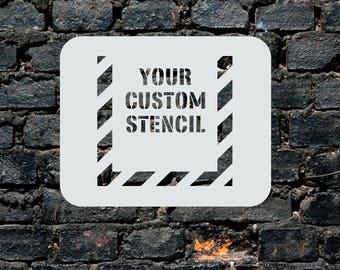 Custom Stencil - Wall Art - Plastic Reusable - Painting - Art Supply - Any