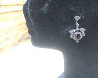 Beautiful Silver Art Nouveau Drop earings