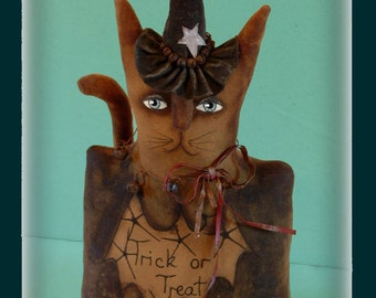 Halloween Witch Cat E-Pattern