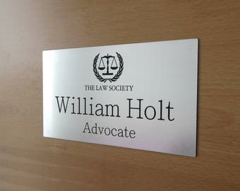 Custom Engraved Office Sign, Personalised Door Sign, Plaque, Business Name Sign, Home Sign.