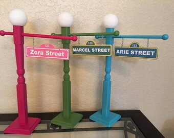 Sesame street sign etsy sesame street sign with lamp post 21 12 inch sesame street party aloadofball Choice Image