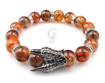 Claws and dragon veins bracelet